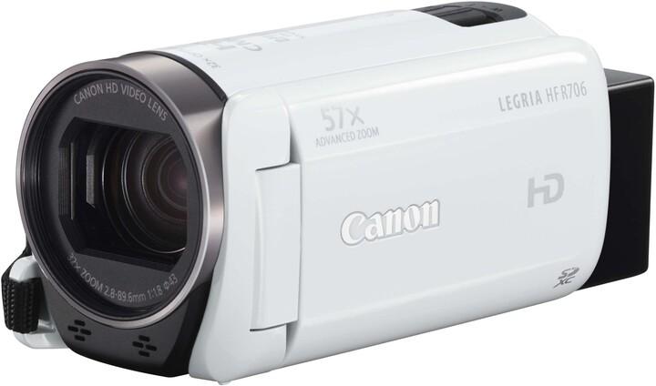 Canon Legria HF R706, bílá - Essential kit