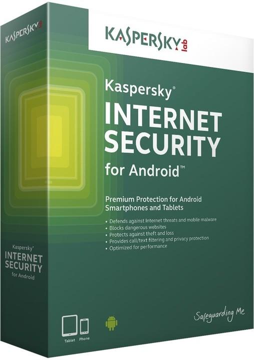 Kaspersky Internet Security pro Android CZ, 3 mobil/tablet, 2 roky, nová licence