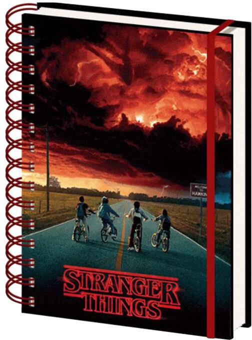 Zápisník Stranger Things, linkovaný, měnící, kroužková vazba (A5)