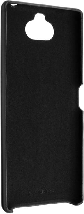 FIXED zadní kryt Tale pro Sony Xperia 10, PU kůže, černá