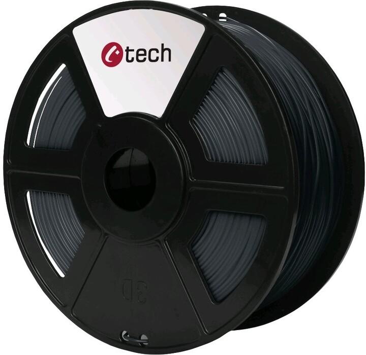 C-TECH tisková struna (filament), PETG, 1,75mm, 1kg, šedá