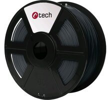 C-TECH tisková struna (filament), PETG, 1,75mm, 1kg, šedá - 3DF-PETG1.75-DG