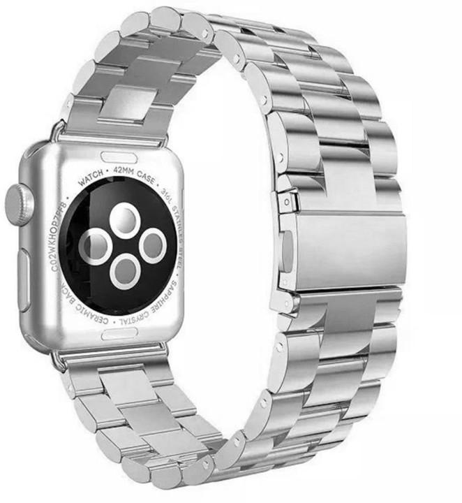 ESES kovový řemínek 42mm pro apple watch, stříbrná