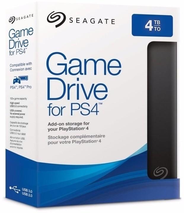 Seagate Game Drive pro PS4, 4TB