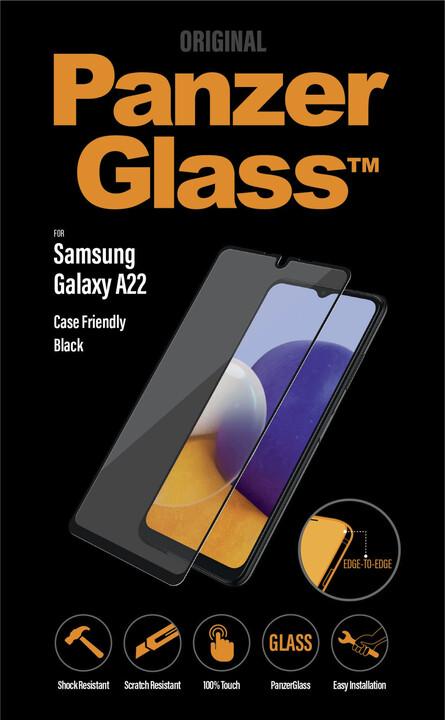 PanzerGlass ochranné sklo Edge-to-Edge pro Samsung Galaxy A22/ M22 / M32, černá