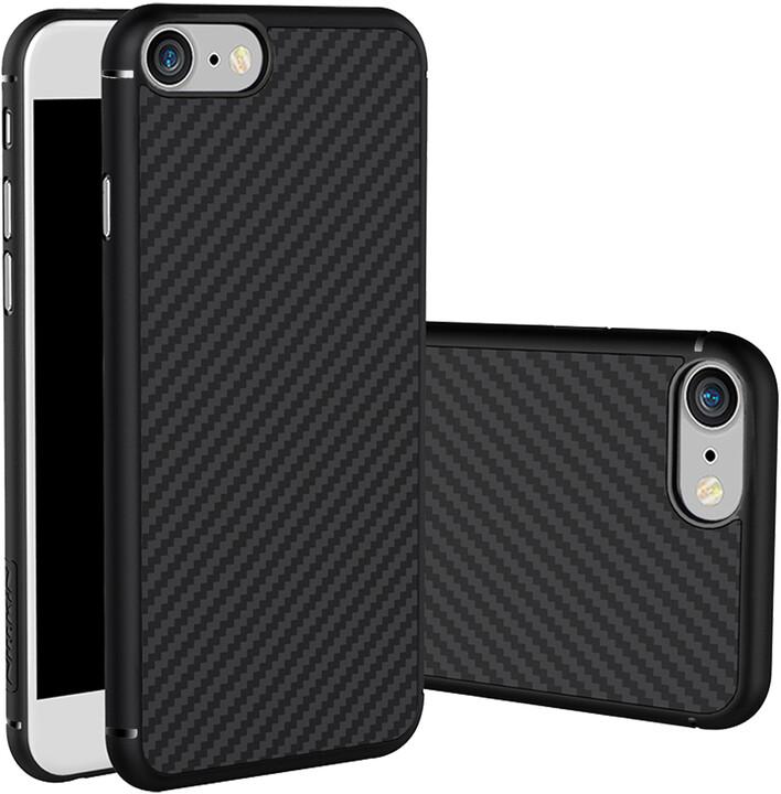 Nillkin Synthetic Fiber Ochranný Zadní Kryt Carbon Black pro iPhone 7
