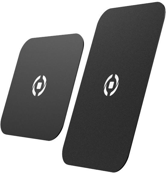CELLY GHOSTPLATE Plíšky kompatibilní s magnetickými držáky pro mobilní telefony, černý