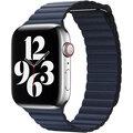 Apple řemínek pro Watch Series, kožený, 44mm, modrá - L