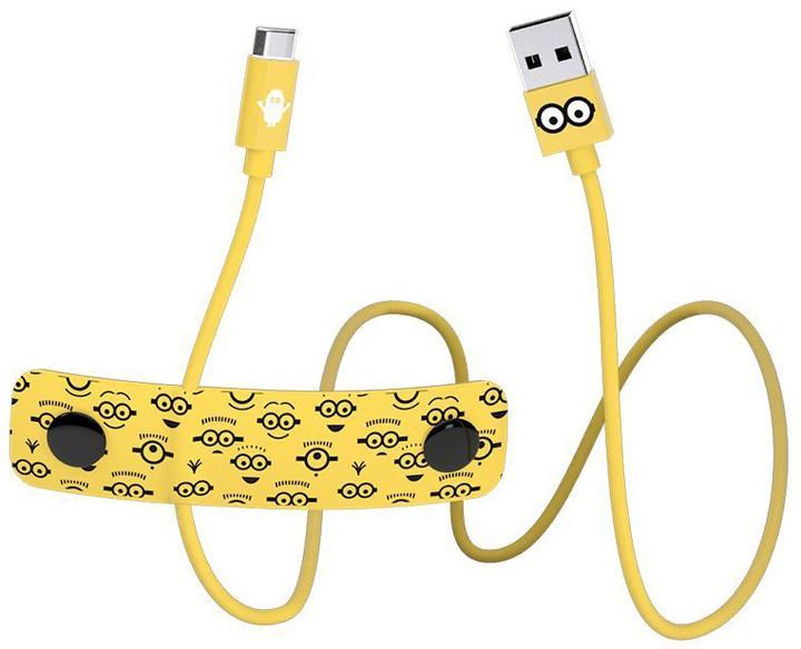 Tribe Minions Tom Micro USB kabel (120cm) - Žlutý