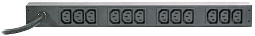 APC rack PDU, 1U, 16A, 208V, (12)C13