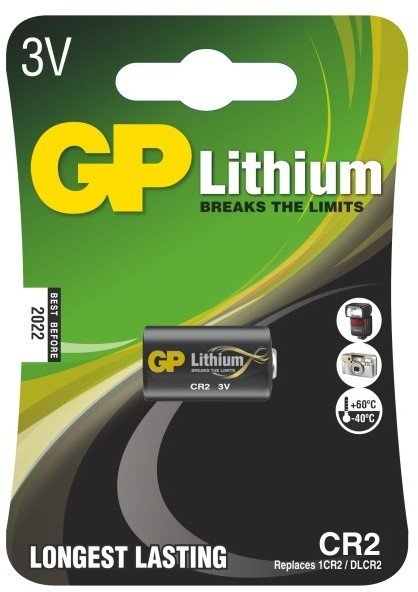 GP, lithium, CR2, 850mAh, 1ks
