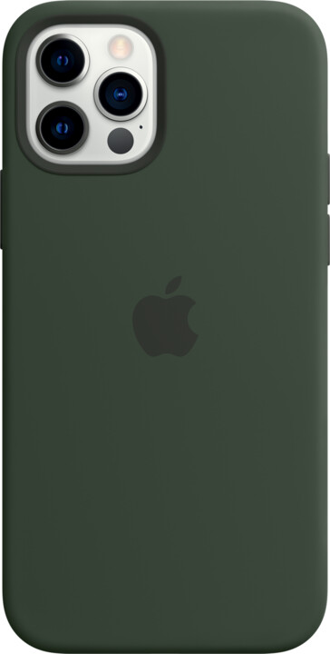 Apple silikonový kryt s MagSafe pro iPhone 12/12 Pro, zelená
