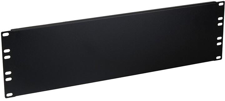 Masterlan FS-3U-B záslepka, 3U, 12cm, černá