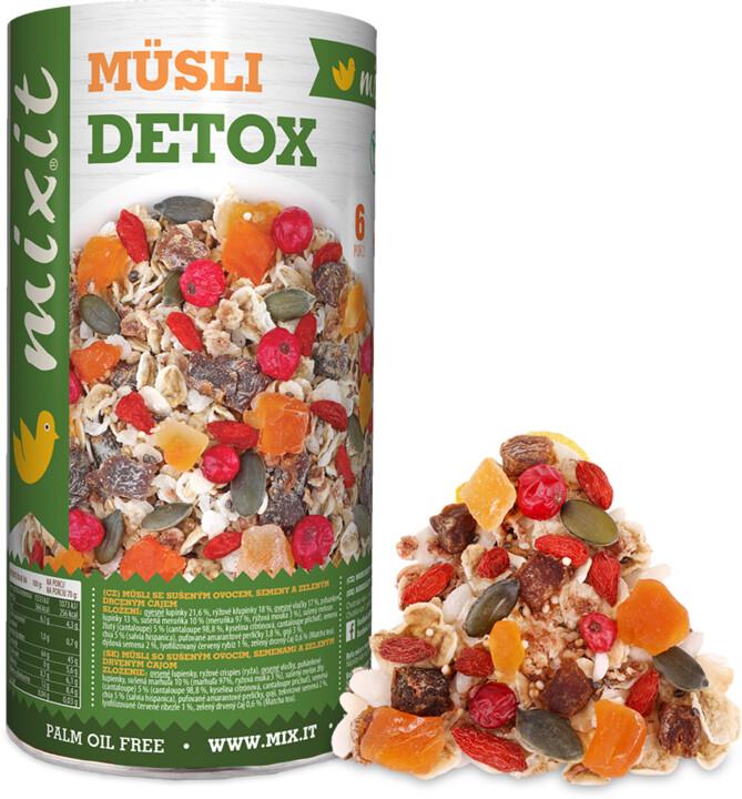 Mixit müsli Zdravě II: Detox - mix semínka/ovoce/zelený čaj, 430g