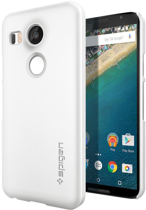 Spigen pouzdro Thin Fit pro Nexus 5X, bílá