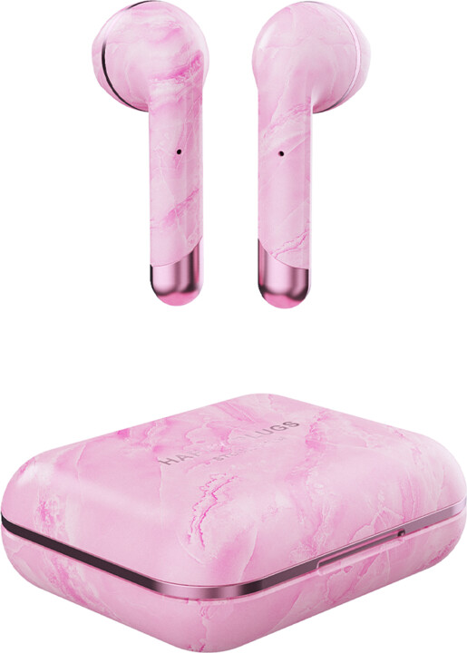 Happy Plugs Air 1, růžový mramor