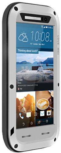 Love Mei Case ochranné pouzdro Powerbul pro HTC M9, silver