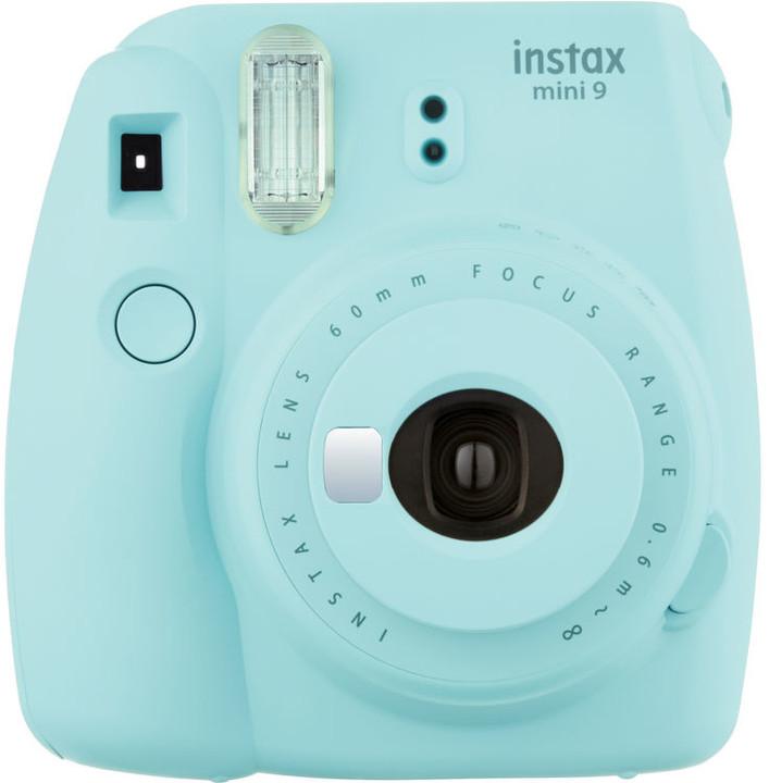 Fujifilm Instax MINI 9, světle modrá + Instax mini film 10ks