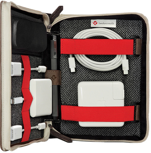 TwelveSouth BookBook CaddySack - travel case for adapter; power supply; cable and accessories