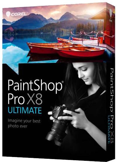 Corel PaintShop Pro X8 Ultimate ML Mini - jazyk EN/ES/FR/IT/NL