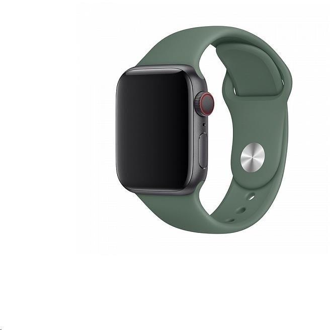COTEetCI silikonový řemínek pro Apple Watch, 42/44mm, zelená