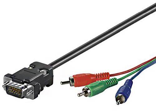 PremiumCord VGA 15p-3xCINCH (RCA) - 2m