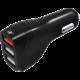 MAX CL autonabíječka MCC3300B 3 x USB (1x QC 3.0), černá