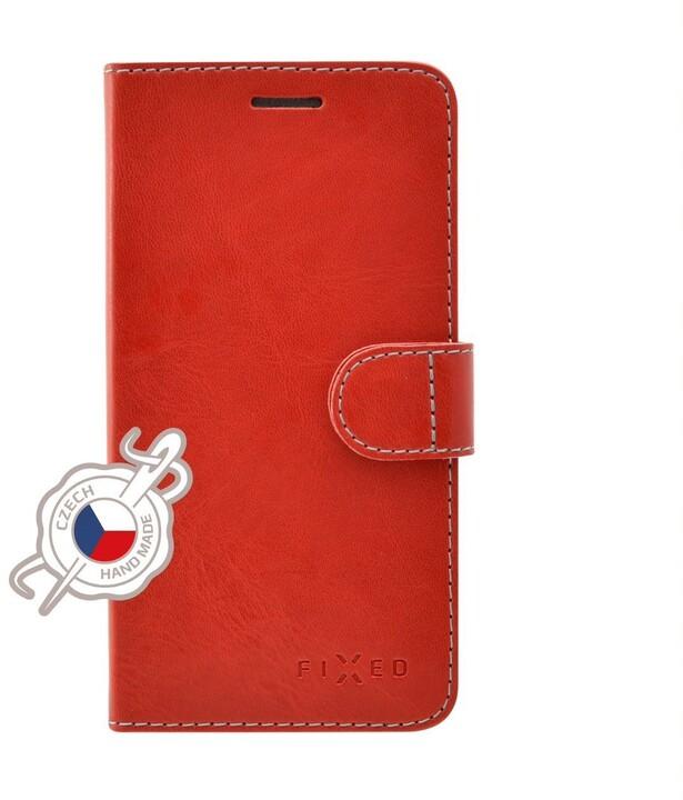 FIXED flipové pouzdro Fit pro Apple iPhone 12 mini, červená