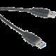 Akasa USB 3.0, A-A (A-M/A-M) propojovací - 1,5m