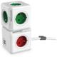PowerCube EXTENDED USB prodlužovací přívod 1,5m - 4 zásuvka, červená