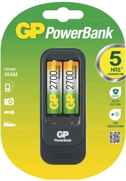 GP Power Bank 560 + 2AA NiMH 2700mAh
