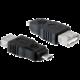 PremiumCord USB redukce USB A/female - Micro USB/male