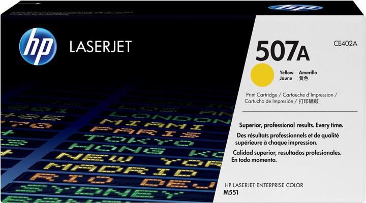 HP CE402A, žlutá