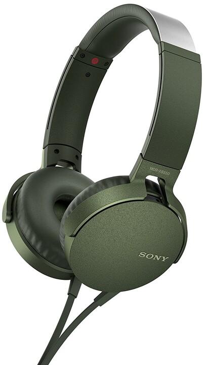 Sony MDR-XB550AP, zelená