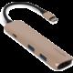 EPICO USB Type-C Hub Multi-Port 4k HDMI - gold/black  + Voucher až na 3 měsíce HBO GO jako dárek (max 1 ks na objednávku)