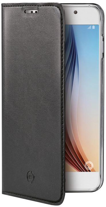 CELLY Air pouzdro pro Samsung Galaxy S6, PU kůže, černá