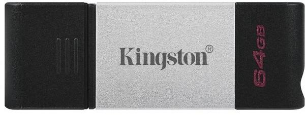 Kingston DataTraveler 80 - 64GB, černá/stříbrná