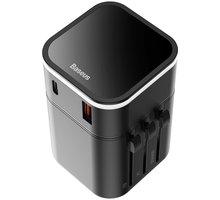 Baseus cestovní adaptér Edition 18W (Type-C+USB), černá - TZPPS-01