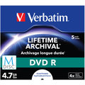 Verbatim DVDR 4,7GB, M-Disc, 4x, 5 ks, Jewel
