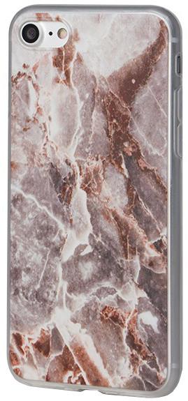 EPICO pružný plastový kryt pro iPhone 7 MARBLE - rose