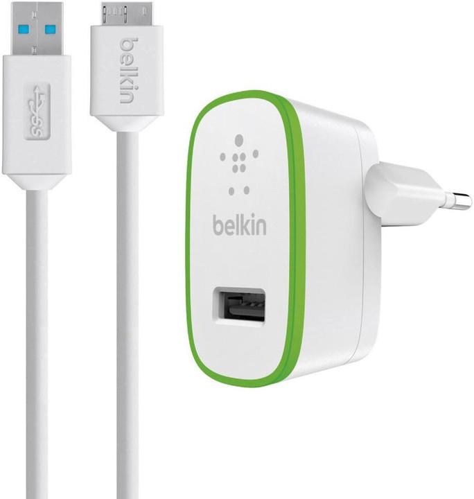 Belkin Micro USB nabíječka, bílá