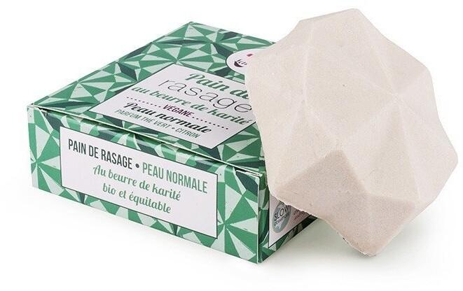 Mýdlo Lamazuna, na holení, pro normální pokožku, tuhé, zelený čaj/citrón, 55 g