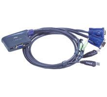 ATEN 2-port KVM USB mini, audio, 1,8m - CS-62U