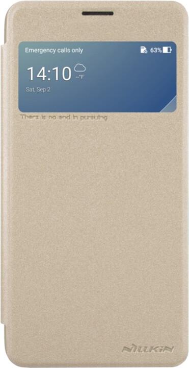 Nillkin Sparkle S-View pouzdro pro ASUS Zenfone 4 Max ZC554KL, Gold