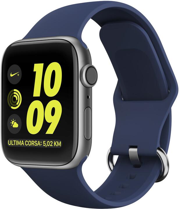 MAX náhradní řemínek MAS08 pro Apple Watch, 38/40mm, tmavě modrá