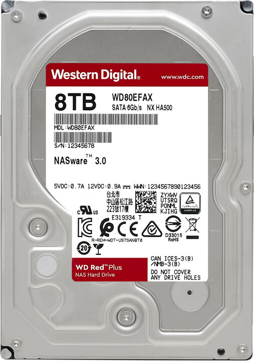 "WD Red (EFAX), 3,5""- 8TB"