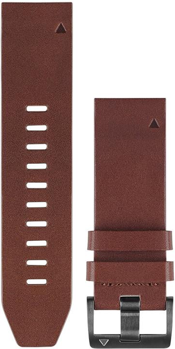 GARMIN náhradní kožený řemínek pro Fenix 5 a Forerunner 935 QuickFit™ 22, hnědý