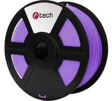 C-TECH tisková struna (filament), PLA, 1,75mm, 1kg, fialová - 3DF-PLA1.75-PR