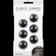 Cable Candy kabelový organizér Beans, 6 ks, černá