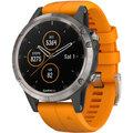 GARMIN fenix5 Plus Sapphire Titanium, Orange Band